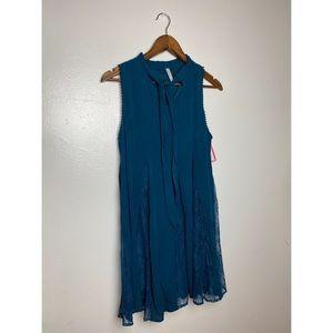 NWT Xhilaration Blue Dress with Lace